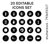 healthy icons. set of 20... | Shutterstock .eps vector #793655317