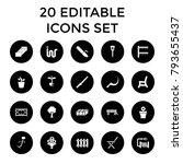 garden icons. set of 20... | Shutterstock .eps vector #793655437