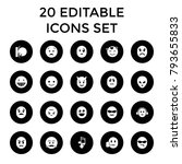 emoticon icons. set of 20... | Shutterstock .eps vector #793655833