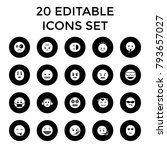 expression icons. set of 20... | Shutterstock .eps vector #793657027