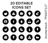 delicious icons. set of 20... | Shutterstock .eps vector #793657117