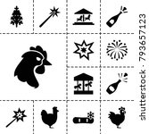 Year Icons. Set Of 13 Editable...