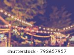 abstract blurred image of night ... | Shutterstock . vector #793657957