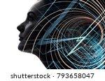 ai artificial intelligence ...   Shutterstock . vector #793658047
