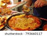 paella preparation   street... | Shutterstock . vector #793660117