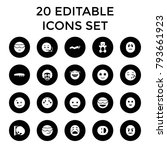 funny icons. set of 20 editable ... | Shutterstock .eps vector #793661923