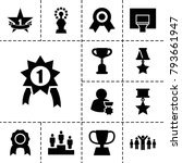victory icons. set of 13...   Shutterstock .eps vector #793661947