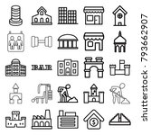 building icons. set of 25... | Shutterstock .eps vector #793662907