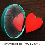 backdrop of two red hearts lie... | Shutterstock . vector #793663747