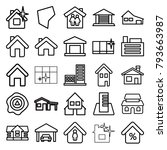 real icons. set of 25 editable... | Shutterstock .eps vector #793663987