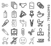 clip icons. set of 25 editable... | Shutterstock .eps vector #793663993