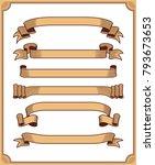 retro ribbon vector graphic... | Shutterstock .eps vector #793673653
