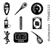 thermometer indicators icons... | Shutterstock .eps vector #793682113