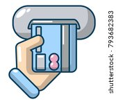 inserting credit card icon.... | Shutterstock .eps vector #793682383