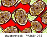 textile fashion african print...   Shutterstock . vector #793684093