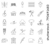 ecological assistance icons set.... | Shutterstock .eps vector #793691683