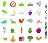 improvement of ecology icons... | Shutterstock .eps vector #793692283