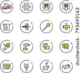line vector icon set   fork... | Shutterstock .eps vector #793695163