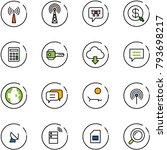 line vector icon set   antenna... | Shutterstock .eps vector #793698217