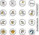 line vector icon set   passport ... | Shutterstock .eps vector #793700527