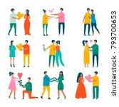 happy moments. loving couple... | Shutterstock .eps vector #793700653