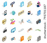 music player icons set.... | Shutterstock .eps vector #793701187