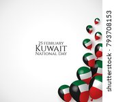 state of kuwait national day 25 ... | Shutterstock .eps vector #793708153
