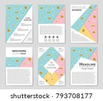 abstract vector layout... | Shutterstock .eps vector #793708177