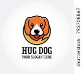 hug dog logo design    Shutterstock .eps vector #793708867