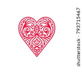 decorative heart symbol ... | Shutterstock .eps vector #793715467