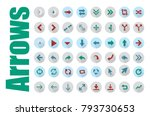 Arrows vector collection with elegant style, Arrow sign icon set, Vector illustration web internet design elements | Shutterstock vector #793730653