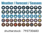 weather forecast and seasons... | Shutterstock .eps vector #793730683