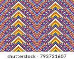 ethnic geometric pattern .... | Shutterstock .eps vector #793731607