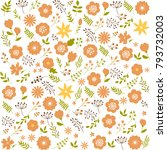 floral seamless pattern... | Shutterstock .eps vector #793732003
