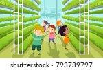 illustration of stickman kids... | Shutterstock .eps vector #793739797