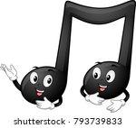 illustration of black quarter... | Shutterstock .eps vector #793739833