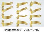 red vintage ribbon collection....   Shutterstock .eps vector #793740787
