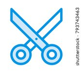 scissor cutter stationary  | Shutterstock .eps vector #793743463