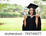 graduation concept. graduated... | Shutterstock . vector #793745077