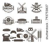monochrome labels set for... | Shutterstock .eps vector #793753837