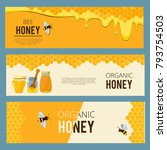 horizontal banners with...   Shutterstock .eps vector #793754503