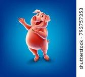 pig cartoon illustration | Shutterstock .eps vector #793757353