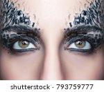 beautiful woman eye macro close ... | Shutterstock . vector #793759777