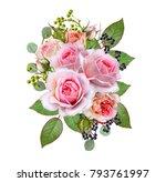 floral background.bouquet ... | Shutterstock . vector #793761997