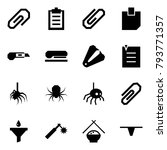 origami style icon set   clip... | Shutterstock .eps vector #793771357