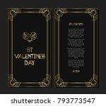 vintage retro style invitation...   Shutterstock .eps vector #793773547
