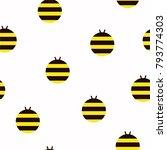 bee pattern seamless repeat in... | Shutterstock .eps vector #793774303