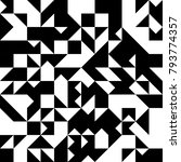 abstract black and white... | Shutterstock .eps vector #793774357