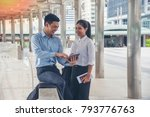 two passenger  sitting and...   Shutterstock . vector #793776763