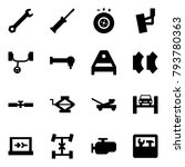 origami style icon set   wrench ... | Shutterstock .eps vector #793780363